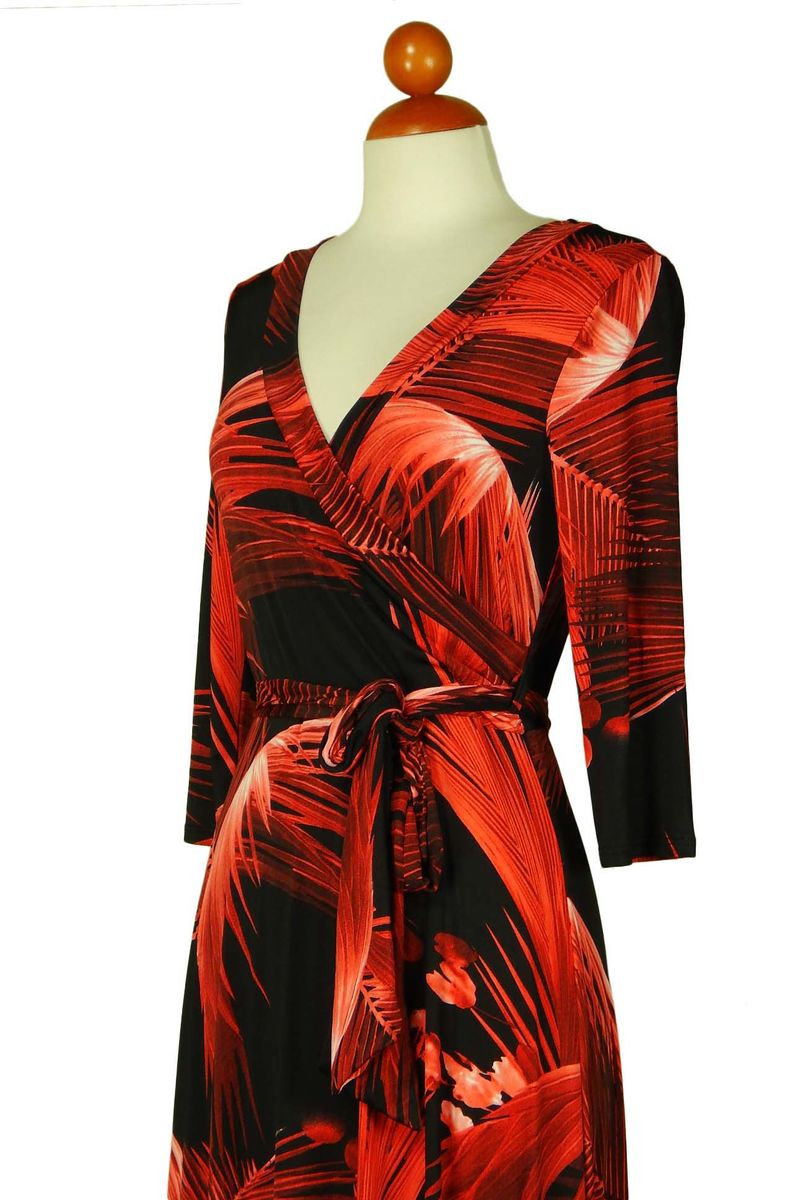 flame in red maxi wrap dress  - product images  of