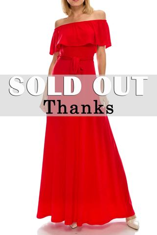 Red,off,the,shoulder,maxi,dress,red apparel, Janette fashion, Janette, Red off the shoulder maxi dress, strap dress