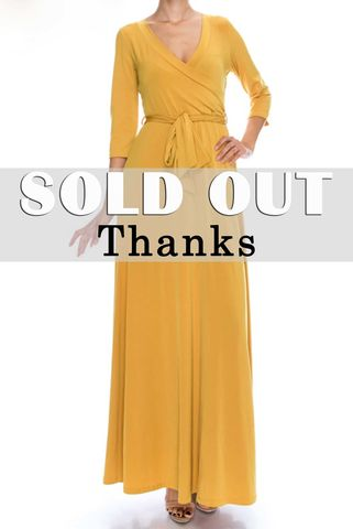 Mustard,seed,maxi,wrap,dress,red apparel, Janette fashion, Janette, Mustard seed maxi wrap dress, wrap dress