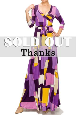 Maze,in,purple,maxi,wrap,dress,red apparel, Janette fashion, Janette, Maze in purple maxi wrap dress