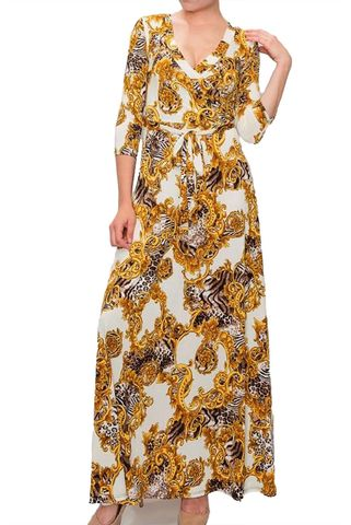 New,versace,print,in,ivory,maxi,wrap,dress,New versace print in ivory maxi wrap dress  , red apparel, redapparelonline, 6ws, Janette fashion, Janette, Maxi wrap dress, wrap dress. work dress, vacation dress, affordable dress