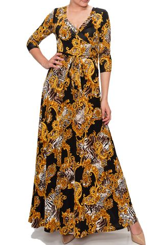 New,versace,print,in,black,maxi,wrap,dress,New versace print in black maxi wrap dress  , red apparel, redapparelonline, 6ws, Janette fashion, Janette, Maxi wrap dress, wrap dress. work dress, vacation dress, affordable dress