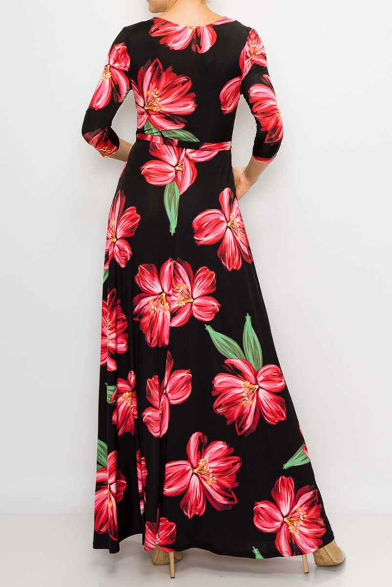 Magnolia in black maxi wrap dress  - product images  of