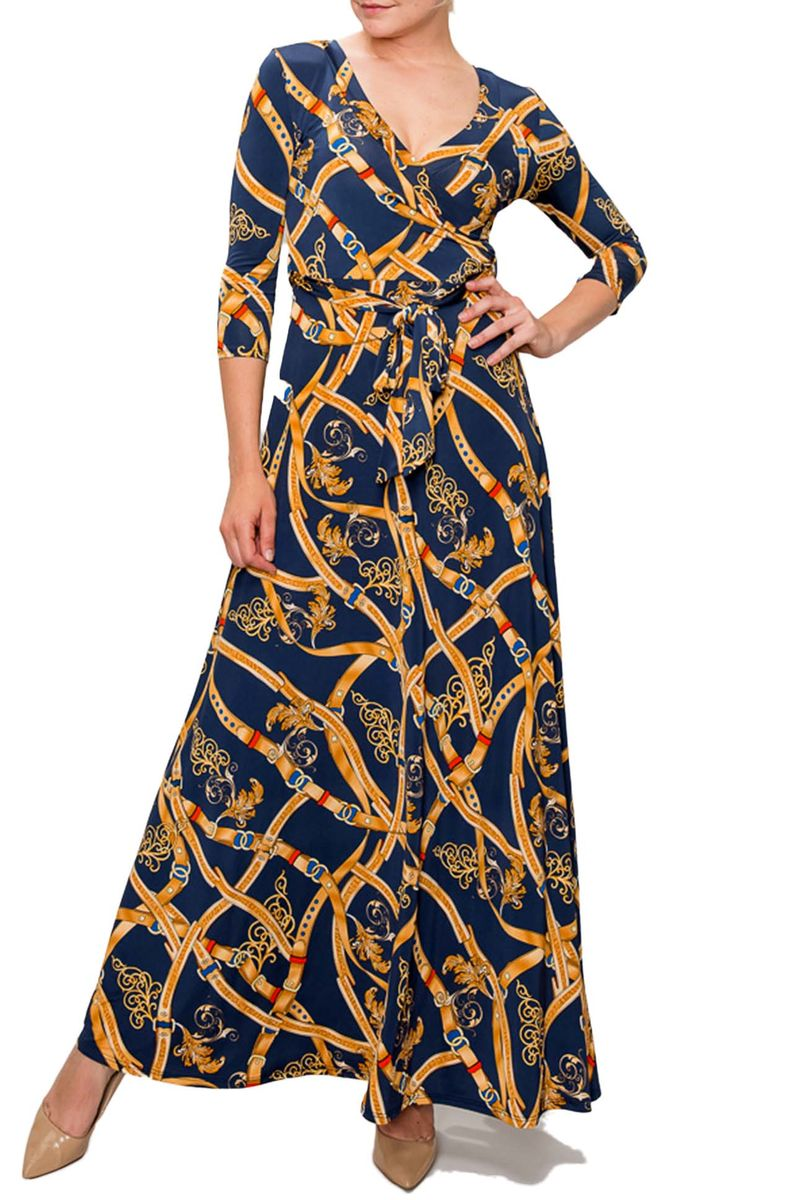 New romantic chains maxi wrap dress - product images  of