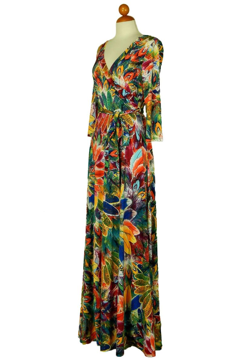 Peafowl maxi wrap dress  - product images  of