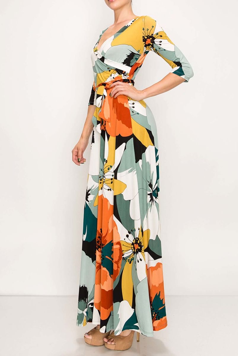 New poppy maxi wrap dress - product images  of