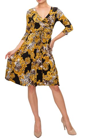 New,versace,print,wrap,dress,New versace print wrap dress, Janette fashion wrap dress, Janette wrap dress, wrap dress, work dress, vacation dress