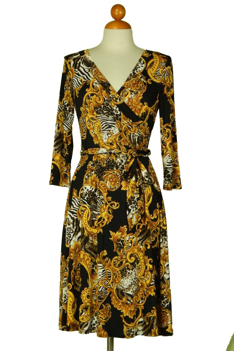New versace print wrap dress - product images  of
