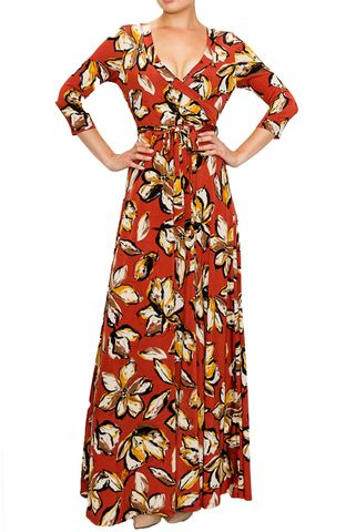 Magnolia,in,brick,maxi,wrap,dress,Magnolia in blilck maxi wrap dress  , redapparelonline, 6ws, Janette fashion, Janette, Maxi wrap dress, wrap dress, work dress, vacation dress, affordable wrap dress