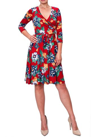 Lost,in,paradise,wrap,dress,Lost in paradise wrap dress, Janette fashion wrap dress, Janette wrap dress, wrap dress, work dress, vacation dress