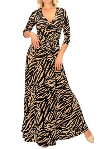 Safari,maxi,wrap,dress,Safari maxi wrap dress   , red apparel, redapparelonline, 6ws, Janette fashion, Janette, Maxi wrap dress, wrap dress. work dress, vacation dress, affordable dress