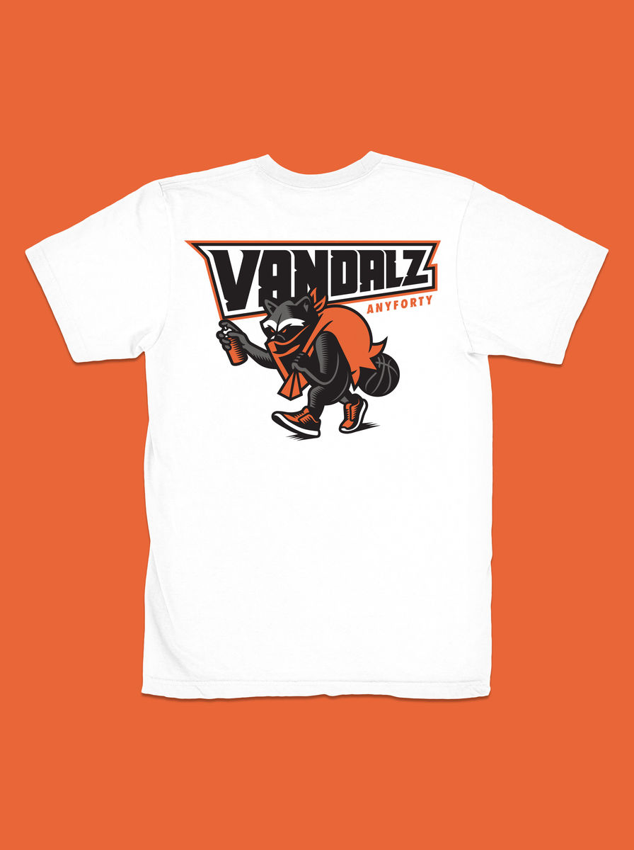 AnyForty x VanilaBCN - Vandalz Franchise Tee - White - product images  of