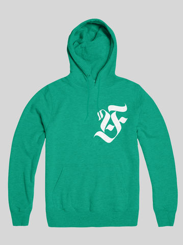 AnyForty,Idents,-,Art,Is,Our,Weapon,Mint,Green,Pullover,Hoody, Ident, Logo, Branded, Ash Willerton, Art Is Our Weapon
