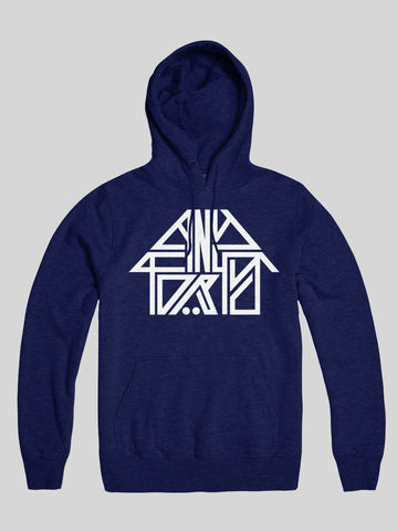 AnyForty,Idents,-,45RRPM,Refix,French,Navy,Pullover,Hoody, Ident, Logo, Branded, 45RPM
