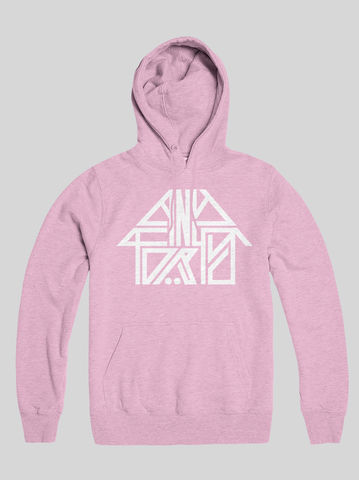 AnyForty,Idents,-,45RRPM,Refix,Pastel,Pink,Pullover,Hoody, Ident, Logo, Branded, 45RPM