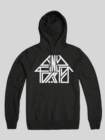 AnyForty,Idents,-,45RRPM,Refix,Black,Pullover,Hoody, Ident, Logo, Branded, 45RPM