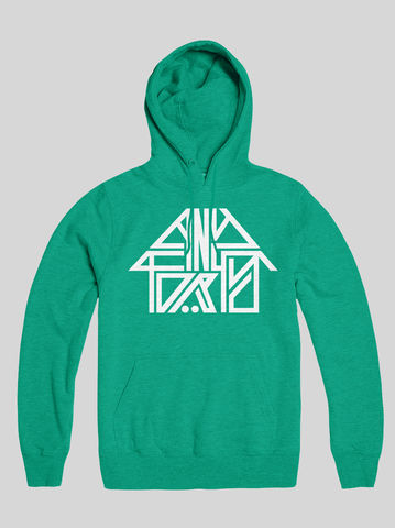 AnyForty,Idents,-,45RRPM,Refix,Mint,Green,Pullover,Hoody, Ident, Logo, Branded, 45RPM