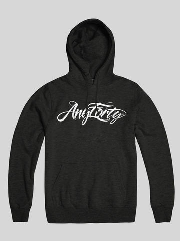 AnyForty,Idents,-,Hydro,Script,Black,Pullover,Hoody, Ident, Logo, Branded, Hydro74