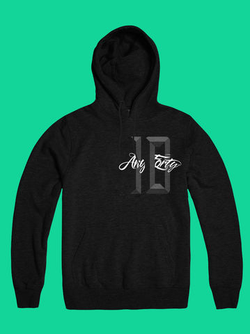 AnyForty,10th,Anniversary,-,Black,Pullover,Hoody, Ident, Logo, 10th Anniversary, Pullover Hood