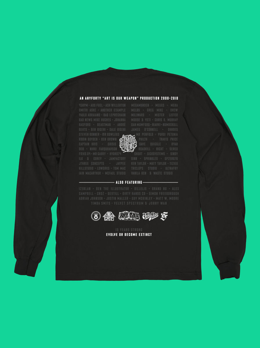 AnyForty 10th Anniversary - Black Long Sleeve Tee - product images  of