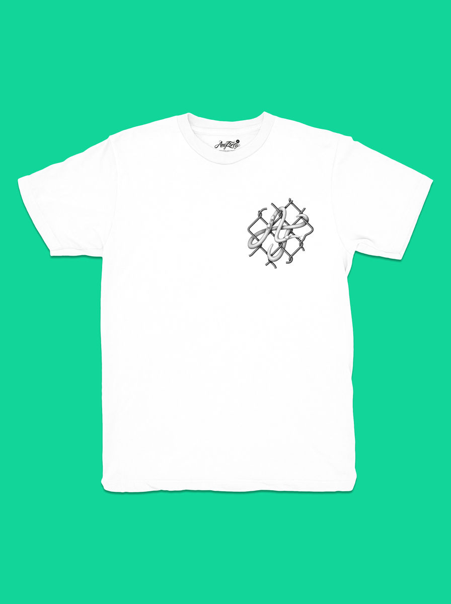 AnyForty x Mark Verhaagen: Evolve or become Extinct - White Short Sleeve Tee - product images  of