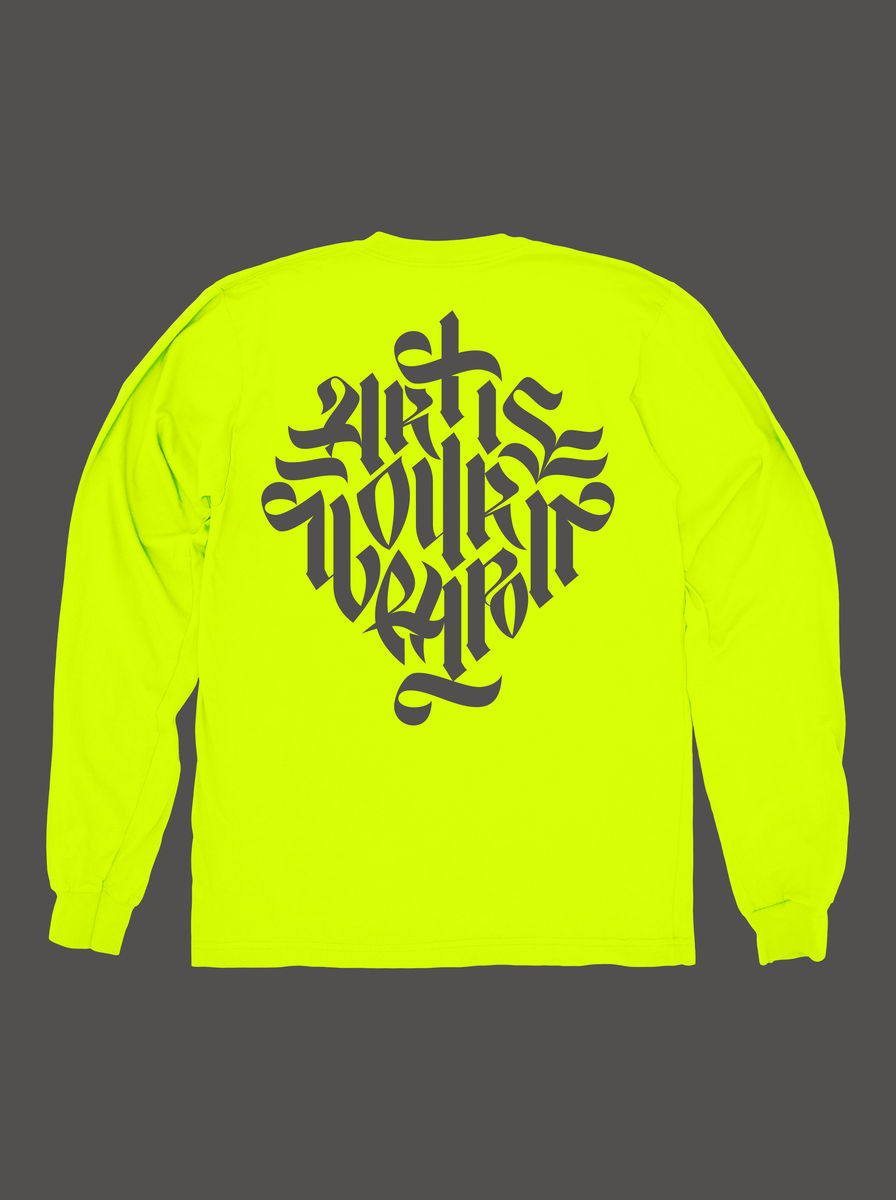 10 Summers: AnyForty Idents - Art Is Our Weapon - Neon Yellow Long Sleeve Tee - product images  of