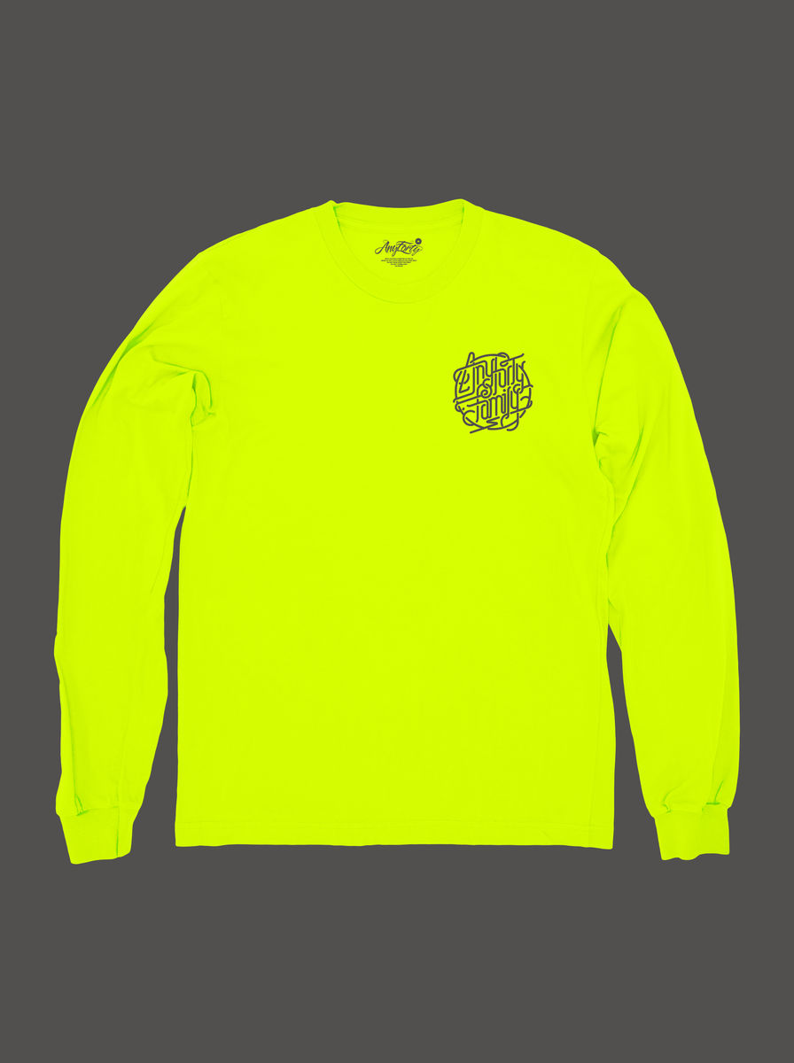 10 Summers: AnyForty Idents - AnyForty Family - Neon Yellow Long Sleeve Tee - product images  of