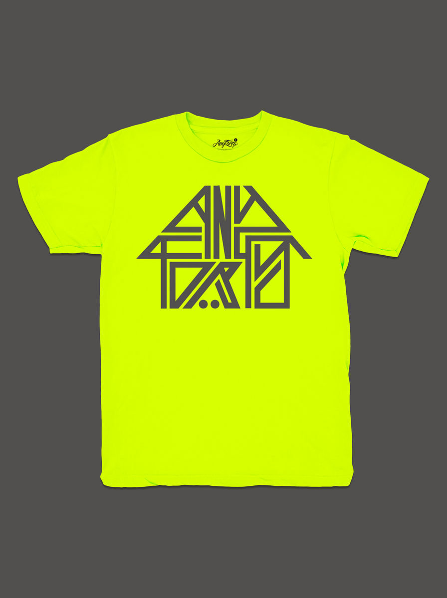 10 Summers: AnyForty Idents - 45RPM Refix - Neon Yellow Short Sleeve Tee - product image