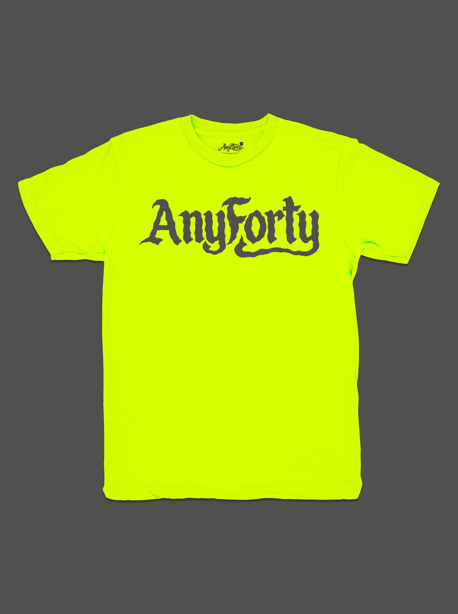 10 Summers: AnyForty Idents - Ben Brown Refix - Neon Yellow Short Sleeve Tee - product image