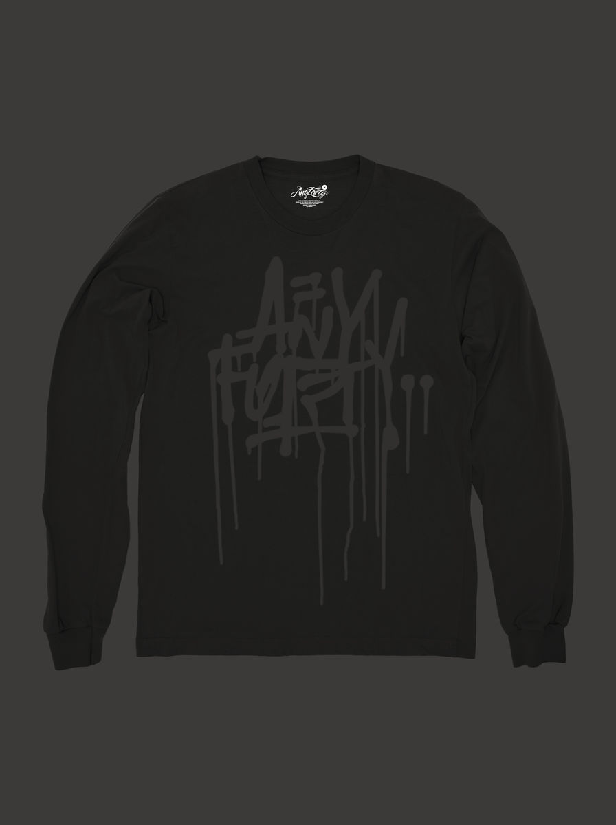 AnyForty Idents - Ohnoes Refix - Black Long Sleeve Tee - product image