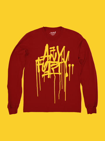 AnyForty,Idents,-,Ohnoes,Refix,Burgundy,Long,Sleeve,Tee, Ident, Logo, T-shirts, Ohnoes