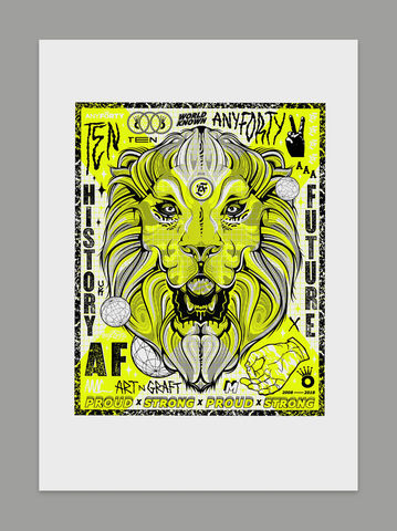AnyForty,&,Tom,Mac,x,Manson,Press,10th,Anniversary,Pride,Art,Print, Artist Collaboration, Art Print, Screen Print, Tom Mac, Manson Press