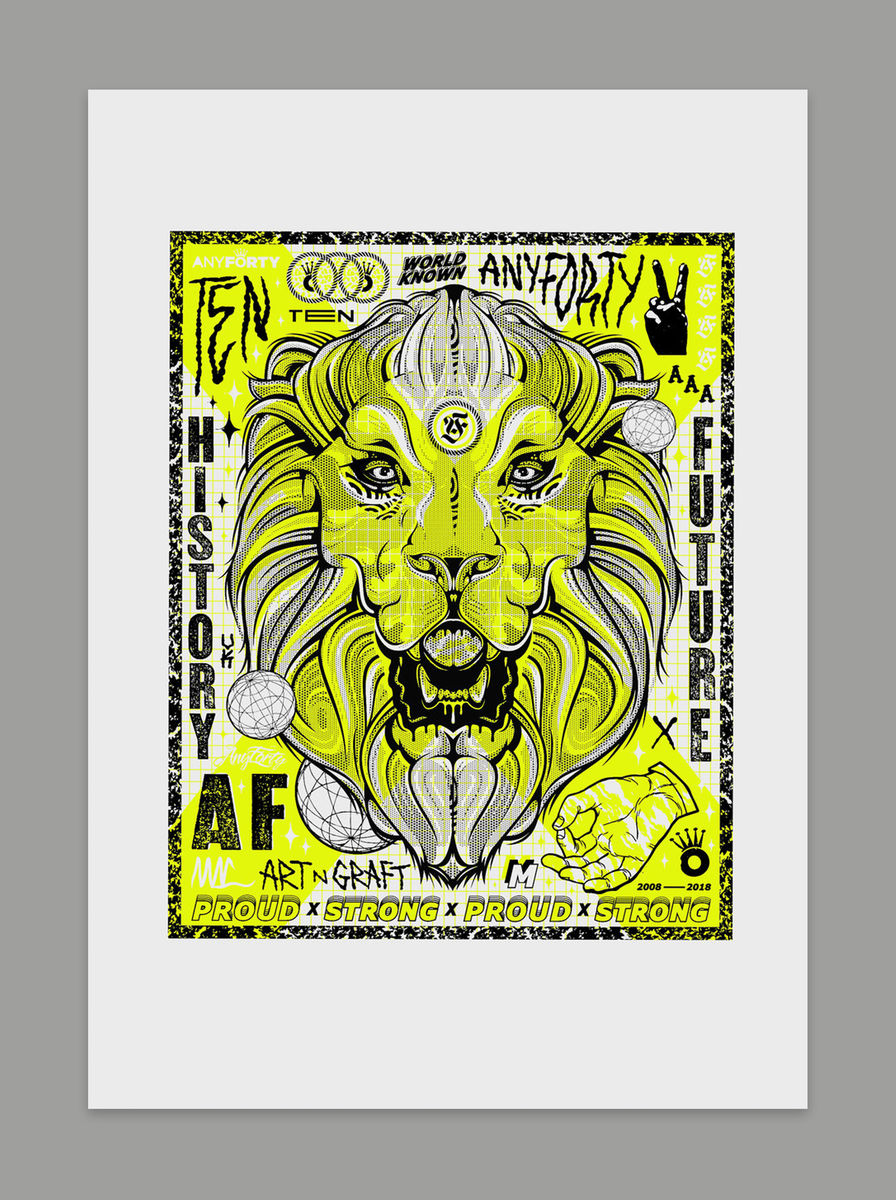 "AnyForty & Tom Mac x Manson Press ""10th Anniversary Pride Art Print"" - product images  of"