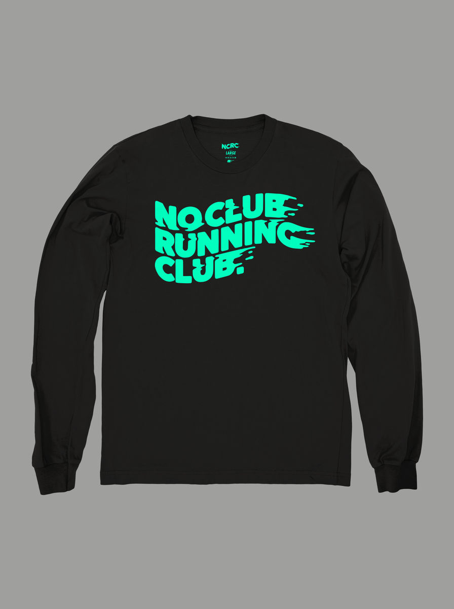 AnyForty Presents No Club Running Club - Long Sleeve Tee - product images  of