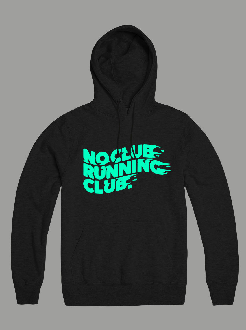 AnyForty Presents No Club Running Club - Dry Blend, Moisture-wicking Pullover Hoody - product images  of