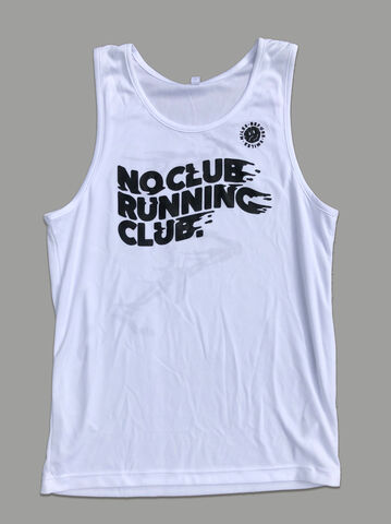 AnyForty,Presents,No,Club,Running,-,Vest,White, No Club Running Club