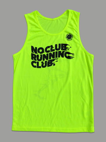AnyForty,Presents,No,Club,Running,-,Vest,Fluro,Yellow, No Club Running Club