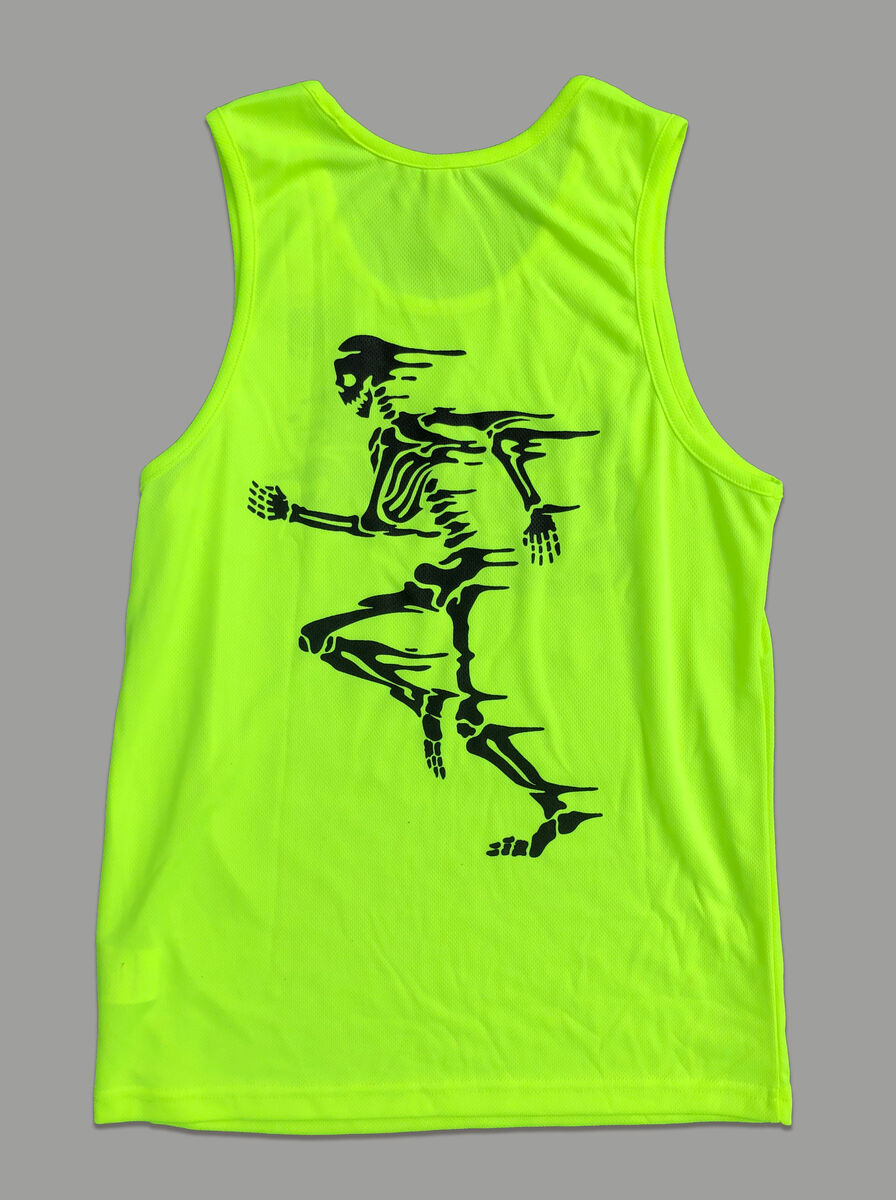 AnyForty Presents No Club Running Club -  Running Vest - Fluro Yellow - product images  of