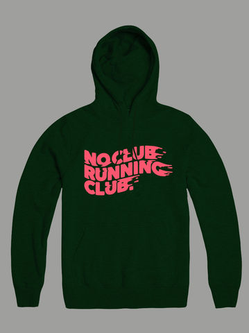AnyForty,Presents,No,Club,Running,-,Pullover,Hoody, No Club Running Club
