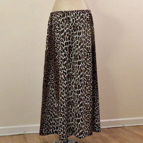 70s RARE Vanity Fair Leopard Print Skirt Medium