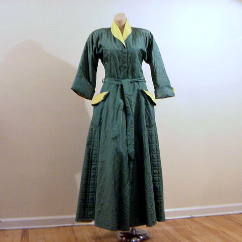 40s 50s Glamorous Quilted Robe Dressing Gown Medium - Pretty Sweet ...
