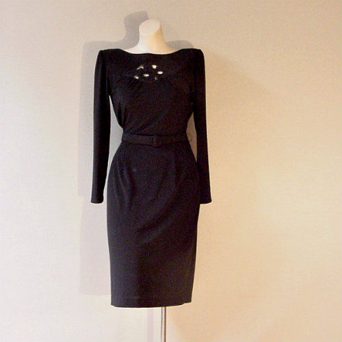 70s 80s A La Carte Little Black Dress Pretty Sweet Vintage