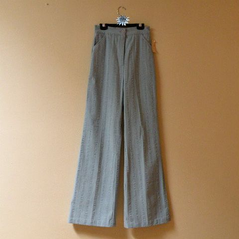 70s,Dyanne,Wide,Leg,Pants,Bell,Bottoms,25wW/35h,1970s, 70s, vintage, separates, pants, jeans, blue, wide leg, bell bottoms, seersucker, denim, Dianne, Dallas, high waist, mom jeans, casual
