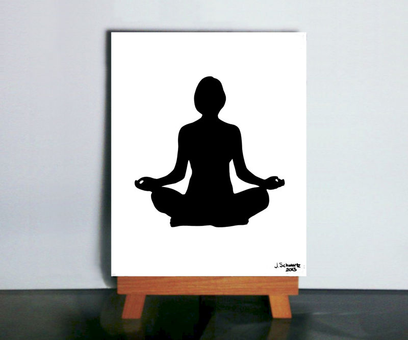 Meditation Art, Yoga Aum Buddhist OM Papercutting - product images