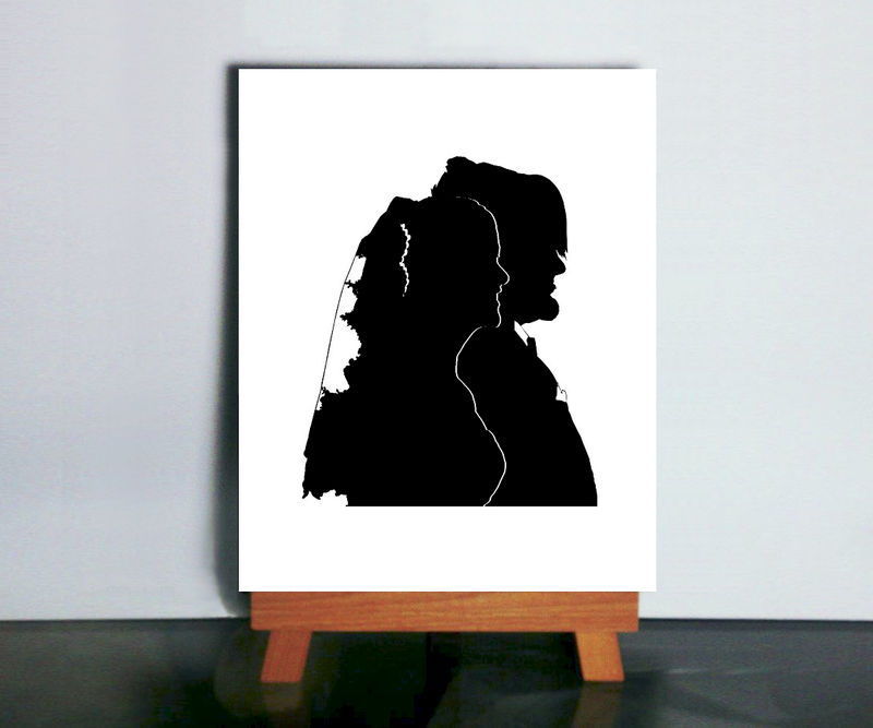 Custom Profile Silhouette Side View Paper Cutting - product image
