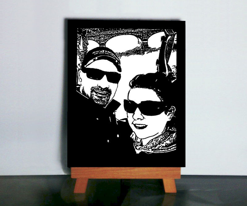 Custom Silhouette Paper Cutting Art - Handmade Paper Art - product image