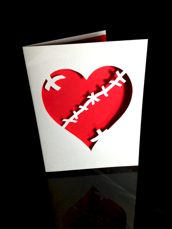 Broken and Stitched Heart Card - product image