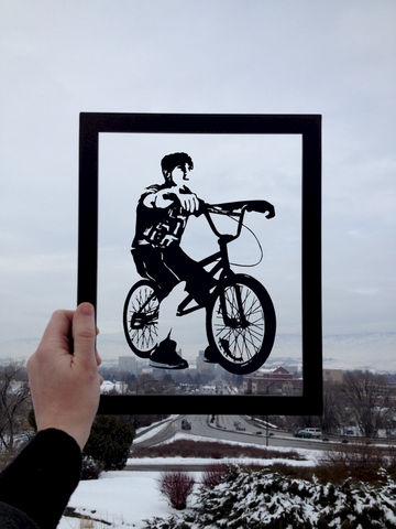 Bicycle,Lover,BMX,Paper,Art,bmx art, bicycle art, bicycle lover, scherenschnitte, papercut art, bicycle silhouette