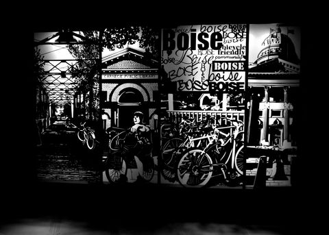 Bicycle,Friendly,Community,,Boise,Intricate,Papercut,Scherenschnitte,scherenschnitte, rear-lit papercut, illuminated art, rear lit art, backlit art, intricate, art, handmade, papercut, papercutting, paper cutting, scherenschnitte art, handmade art, intricate art, black and white, silhouette art