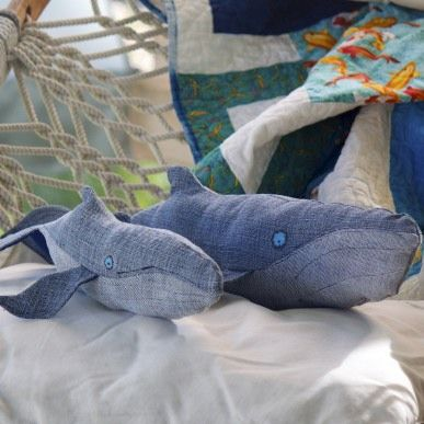 Large,Handcrafted,Plush,Humpback,Whale,Set,Josie,&,Victor,Humpback whale,plush whale,handmade toy,eco friendly plush,ocean,nautical nursery decor,baby shower gift,denim,upcycled,eco friendly baby gifts,nautical baby shower,repurposed,navy blue,stuffed whale